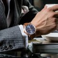 Classic gents watch with blue dial Collection Printemps-Eté Maserati