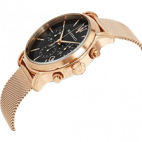 Black & Rose Gold Chronograph with Date Spring Summer Collection Maserati