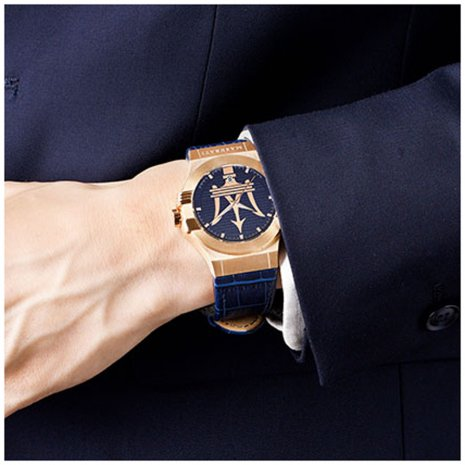Gents Quartz watch with Trident Logo Spring Summer Collection Maserati