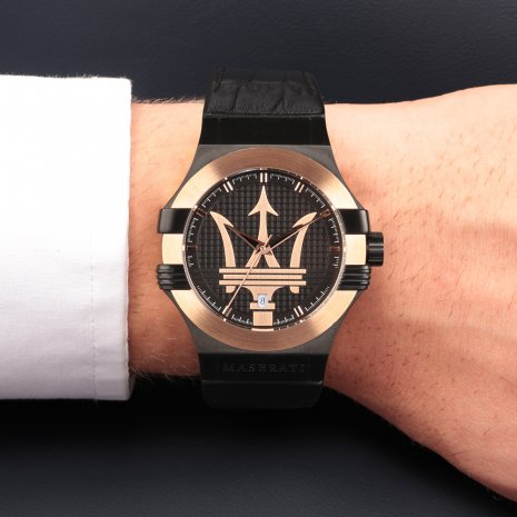 Rose & Black Steel Men's Watch Fall Winter Collection Maserati