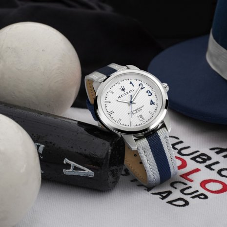 Steel Quartz Watch with Date Spring Summer Collection Maserati