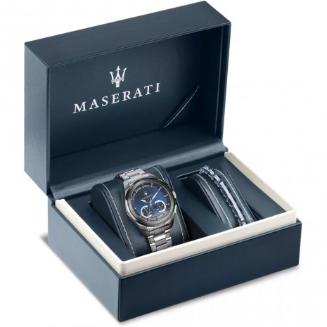 Stainless Steel Men's Chrono with extra bracelet Fall Winter Collection Maserati