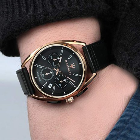 Grey & Rose Gold Chronograph With Date Spring Summer Collection Maserati