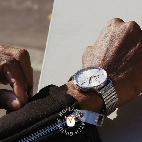 Swiss made steel gents watch with date Spring Summer Collection Maurice Lacroix