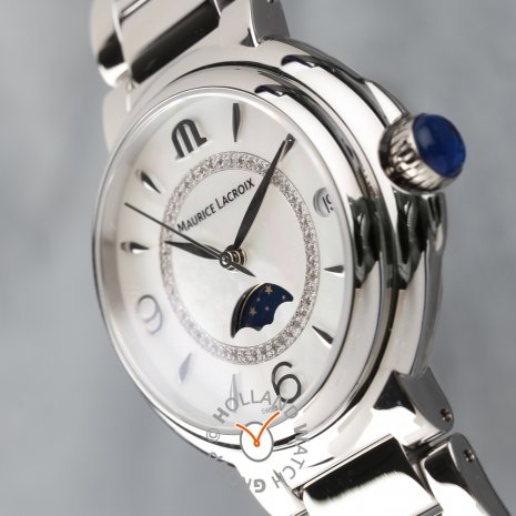 Swiss ladies moonphase watch with 46 diamonds Spring Summer Collection Maurice Lacroix