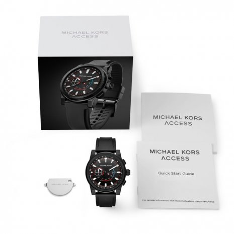 Black Hybrid Smart Watch with Silicone Strap Fall Winter Collection Michael Kors