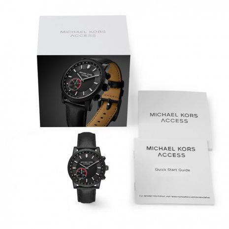 All Black Hybrid Smart Watch Spring Summer Collection Michael Kors