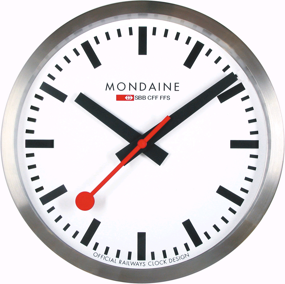 Mondaine A990 Clock 16sbb Railways Clock Wall Clock 25 Cm