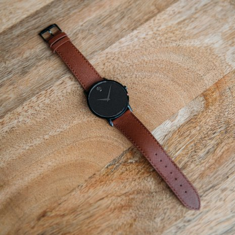 Black Gents Watch with Concave Dot Fall Winter Collection Movado