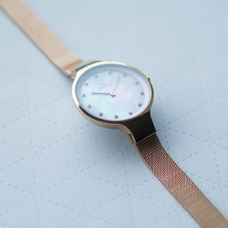 Rose Gold Ladies Design Watch with MOP dial Fall Winter Collection Obaku