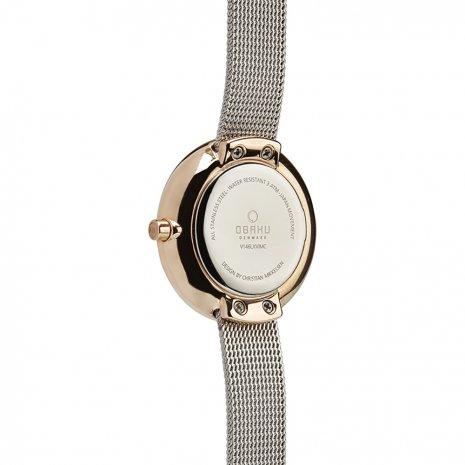 Rose Gold & White Ladies Watch Fall Winter Collection Obaku