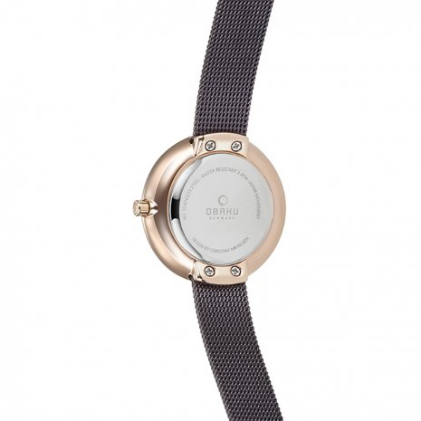 Brown & Rose Gold Ladies Watch Fall Winter Collection Obaku