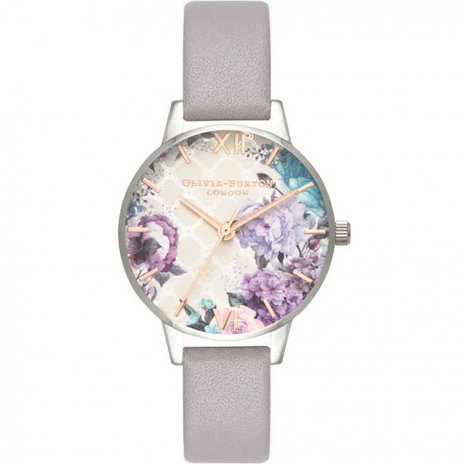 Olivia Burton Grey Lilac Rose Gold & Silver watch