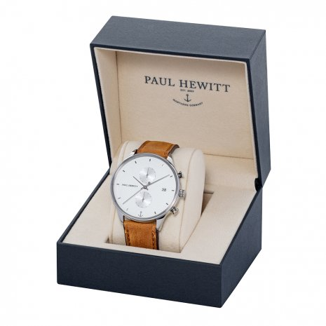 Silver Chronograph Watch with Date Fall Winter Collection Paul Hewitt