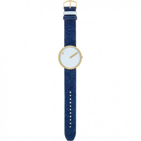 Gold & blue design watch Fall Winter Collection Picto