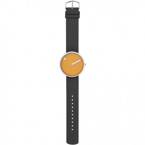 Yellow Design Watch Medium Size Spring Summer Collection Picto