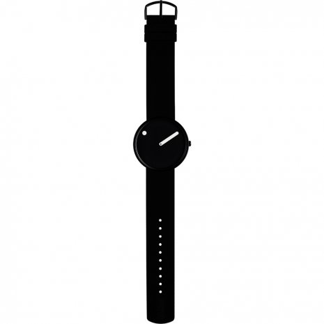 Black Design Watch Medium Size Fall Winter Collection Picto