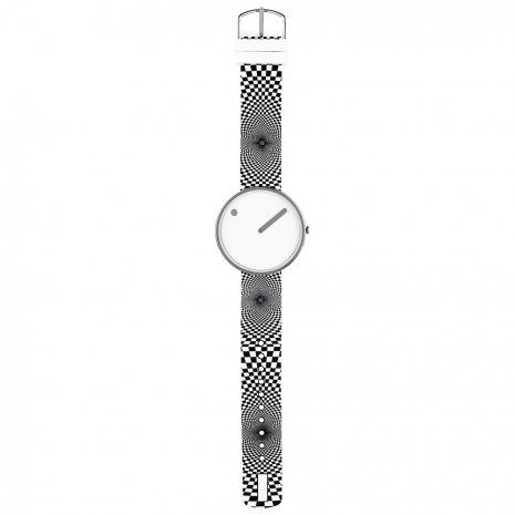 White Design Watch Medium Size Collection Automne-Hiver Picto