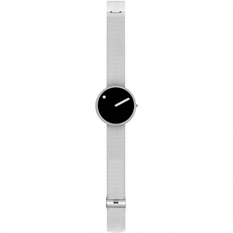 Black & Silver Design Watch with Milanese Bracelet Fall Winter Collection Picto