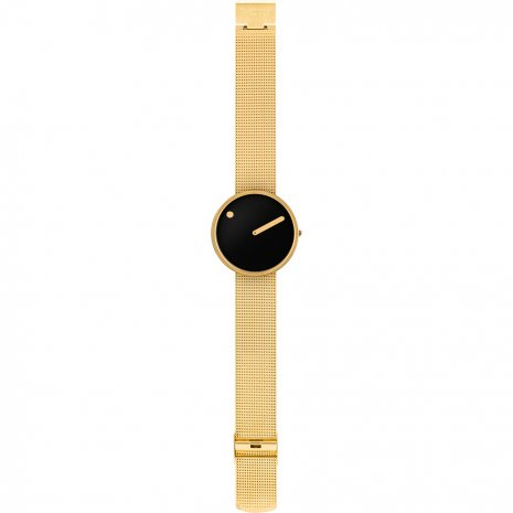 Gold & Black Design Watch with Milanese Bracelet Fall Winter Collection Picto