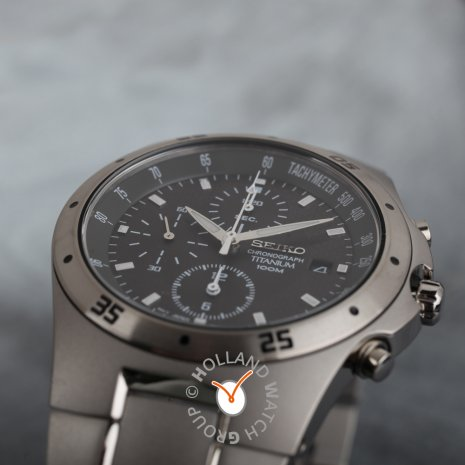 Titanium & Black Chronograph with Date Fall Winter Collection Seiko