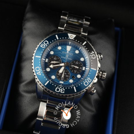 Seiko watch blue
