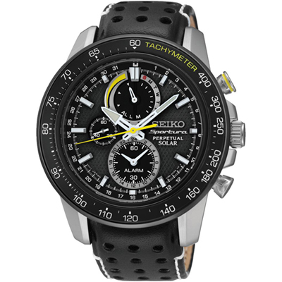 Seiko Sportura Solar Chronograph-World Timer watch