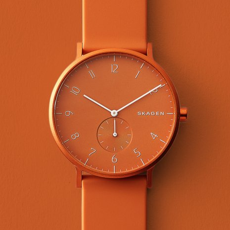 Orange Aluminum Design Watch Spring Summer Collection Skagen