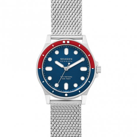 10 ATM water resistant watch with uni-directional bezel Spring Summer Collection Skagen