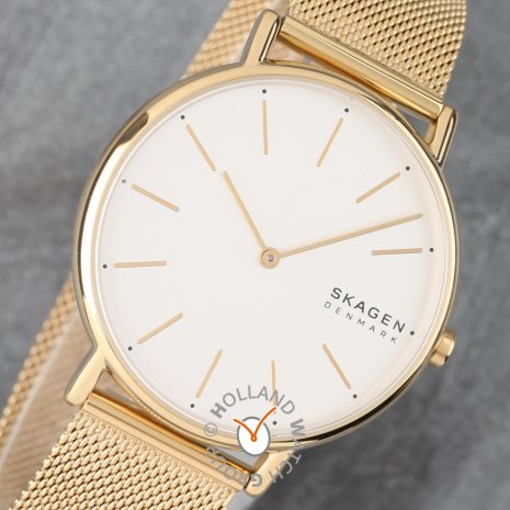 Gold toned designwatch with mesh bracelet Fall Winter Collection Skagen