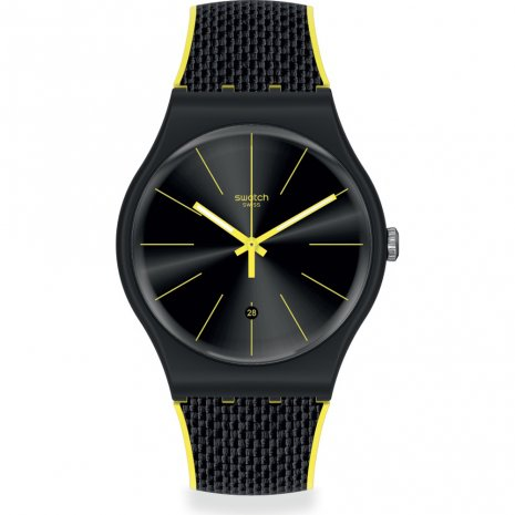Swatch Black Cord watch