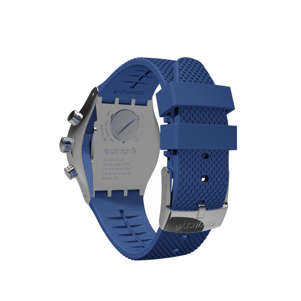 Blue   Silver New Irony Chronograph Fall Winter Collection Swatch f56dd0c50e1