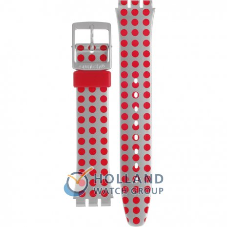 Swatch GE240 Red Flush Strap