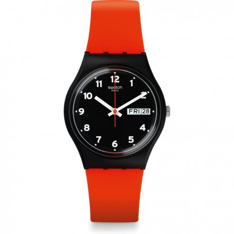 Swatch Red Grin watch