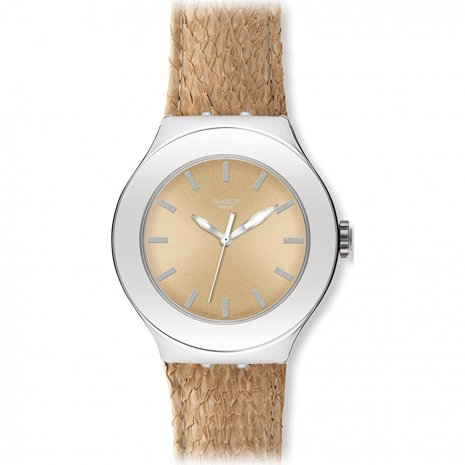 Swatch Salmon Gold watch