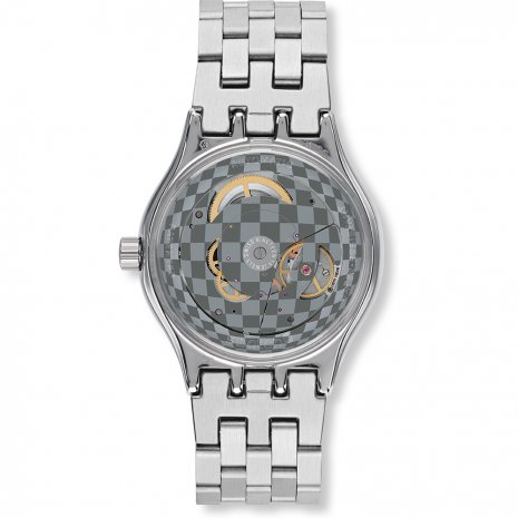 Silver Swiss Made Automatic Watch Fall Winter Collection Swatch