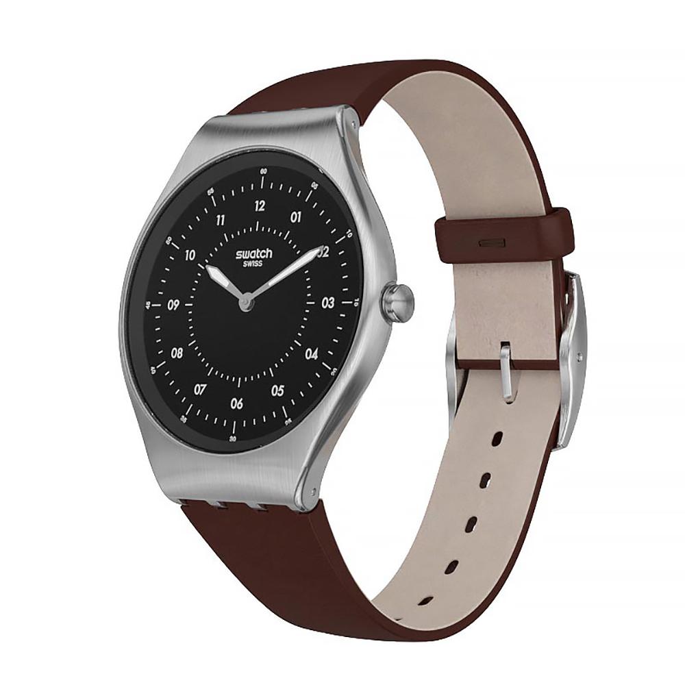 04cbdd815203 Swatch watch black · watch silver Quartz