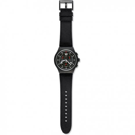 Black Steel XL Size Irony Chronograph Fall Winter Collection Swatch