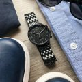 Black Gents Quartz Chronograph with Date  Timex