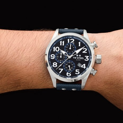 XXL Men's chronograph with textile strap Spring Summer Collection TW Steel