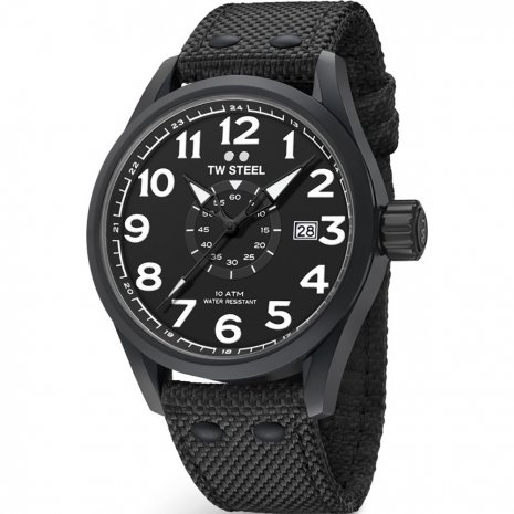 Black Gents Quartz Watch with Date Fall Winter Collection TW Steel