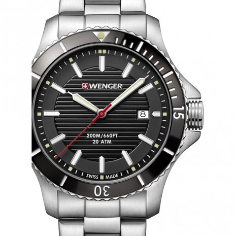 Swiss Made Gents Quartz Diving Watch with Date Spring Summer Collection Wenger